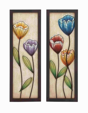 Flora And Fauna Colorful Magnificent Wall Decor - 55519 by Benzara