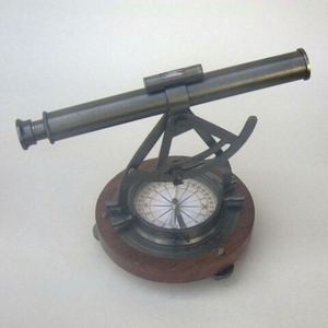 Alidate Theodolite Compass with Wooden Base by IOTC