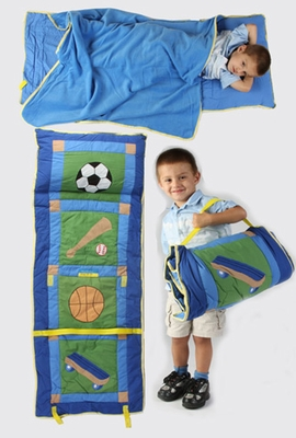 All In One Kids Sports Nap Roll in Blue by American Hometex