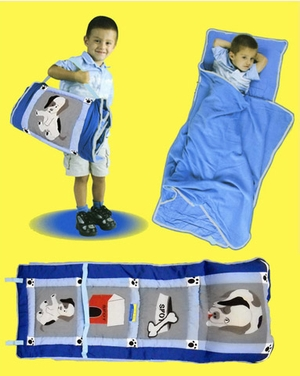 All In One Spot the Dog Child Nap Roll in Blue by American Hometex