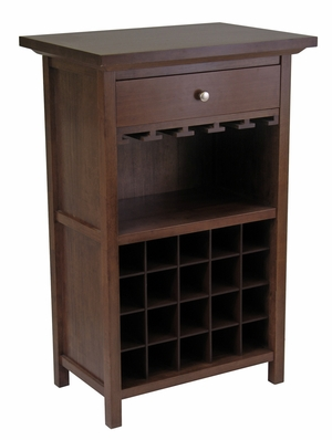 All in One Wine Cabinet For Your Mini Bar by Winsome Woods