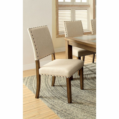 Buy Allison 2 PC Nail Head Trim Upholstered Side Chair At
