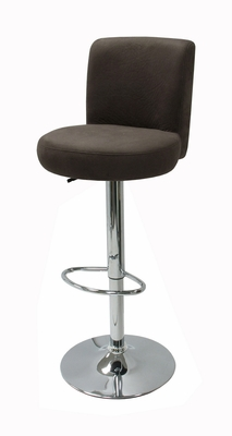 Alluring Airlift Stool with Sleek Glossy Steel Stand by Winsome Woods