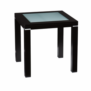 Alluring Black Square Metallic Brennan End Table by Southern Enterprises