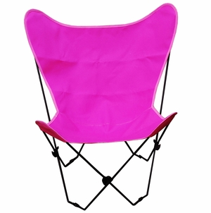 Alluring Butterfly Styled Steel Framed Foldable Chair by Alogma