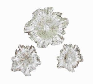 Alluring Decorative Wall plaque Set of Three Brand Benzara
