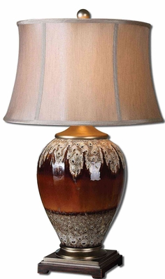 Alluvioni Table Lamp with Detailing in Silver Brand Uttermost