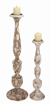 Almada Antiquated Ornamental Candle Holder Set Brand Benzara