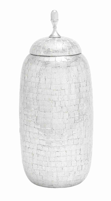 Almada Antiqued Striking Mosaic Jar Creation Brand Benzara