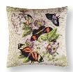 Althea Canvas Butterfly Pillow 18 x18 Inches Brand C&F