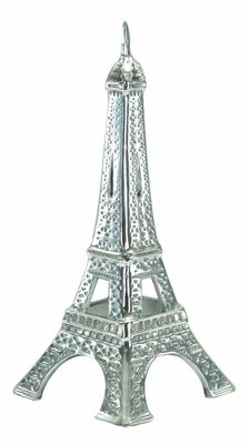 Alum Eiffel Tower in Classy Silver Finish with Artistic Design Brand Woodland