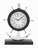 Aluminium Anchor Clock with Attractive Design & Sturdy Base Brand Woodland