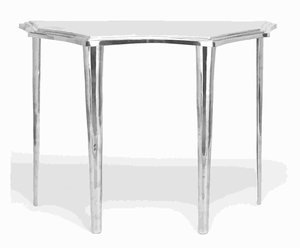Aluminium Console Table with Smooth Finish & Intricate Design Brand Woodland