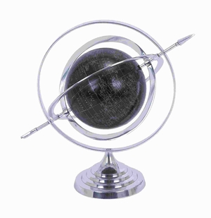 Aluminium Globe with Attractive Concentric Circle Pattern Brand Woodland