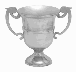 Aluminium Trophy Vase with Distressed Finish & Urn Style Design Brand Woodland