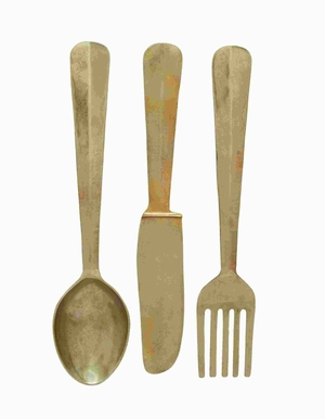 Aluminium Utensil Rustic Decor Style For User Safety (Set of 3) Brand Woodland