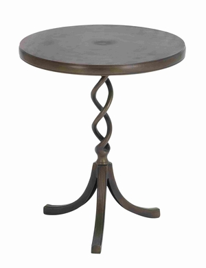 "Aluminum 24"" Accent Table with Chic Contemporary Design Brand Woodland"