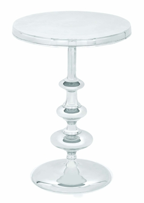 """Aluminum Accent Modern Round Table 22"""" Height Brand Woodland"""