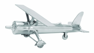 Traditional And Classy Aluminum Aircraft With Metallic Finish - 26940 by Benzara