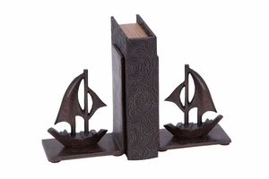 Aluminum Book End Pair, Nautical Decor, 7 Inch x 5 Inch Brand Woodland