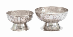 Aluminum Bowl with Simple Yet Elegant Design in Set of 2 Brand Woodland