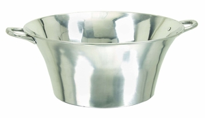 Aluminum Metal Large Party Planter Ice Wine Beer Drinks Bucket Brand Woodland