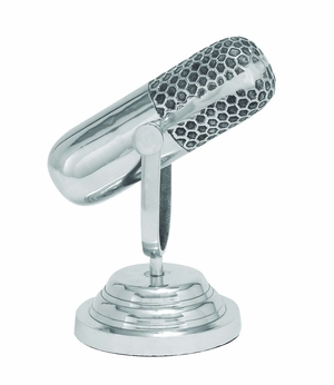Aluminum Microphone Shaped Trophy Stage Décor Brand Woodland