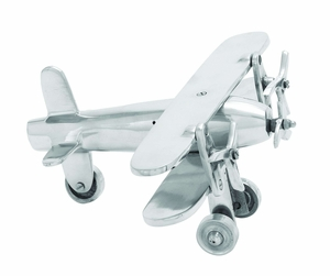 Aluminum Plane With Intricate Detailing And Rich Metallic Sheen - 30887 by Benzara