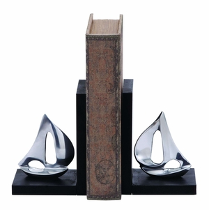 Aluminum Unique Sailboat Bookend Nautical D�cor Brand Woodland