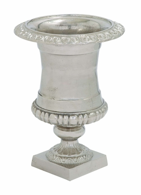 "Aluminum Urn with Intricate Details 25"" Height Brand Woodland"