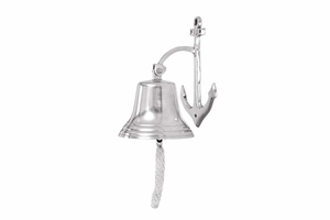 Aluminum Wall Bell With Long Braided Lanyard - 28301 by Benzara