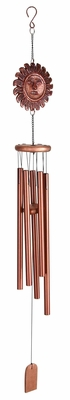 Aluminum Wind Chime with Elegant Design and Antiqued Finish Brand Woodland