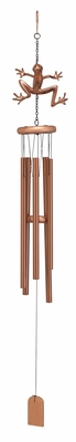 Aluminum Wind Chime with Modern Design and Copper Finish Brand Woodland