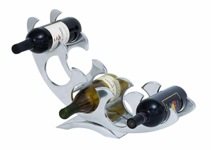 Aluminum Wine Rack with Silver Finish - Classic Barware Brand Woodland