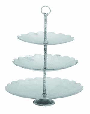 "Aluminumin Classic Three Tier Tray 19 "" Wide Brand Woodland"