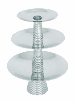 "Aluminumin Flawless Three Tier Tray 23"" Height Brand Woodland"