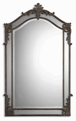 Alvita Metal Wall Mirror with Hand Forged and Hammered Metal Brand Uttermost