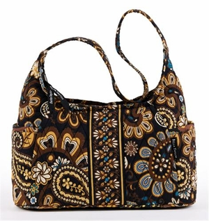 Amaretto Style Handbag - Quilted Curve Purse By Bella Taylor Brand VHC