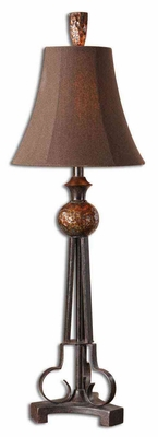 Amarion Antiqued Buffet Lamp with Bronze Leaf Finish Brand Uttermost