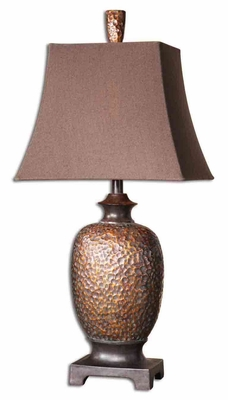 Amarion Table Lamp Crafted with Poly Bronze Leaf Finish Brand Uttermost