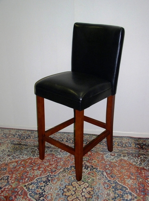 Amazing Black Barstool with Sturdy Long Legs by 4D Concepts