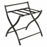 Amazing Foldable Black Unique Luggage Rack by Winsome Woods