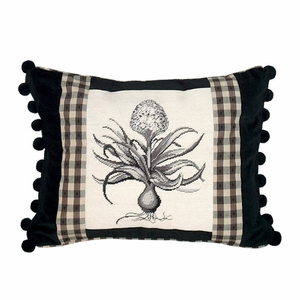 Amazing Hyacinth Needlepoint Pillow by 123 Creations