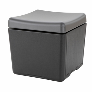 Amazing Otto Seating & Storage Solution, Charcoal Top/Black Bottom by Iceburg Enterprises