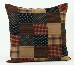 Amazing Patterned Patriotic Patch Euro Sham Quilted by VHC Brands