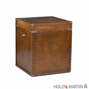 Amazing Piece of Holly & Martin Bristol Trunk End Table by Southern Enterprises