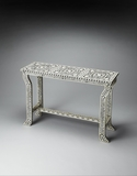 Amazing Styled Bone Inlay Console Table by Butler Specialty
