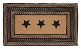 Amazing Styled Farmhouse Jute Rug Rect Stencil Stars by VHC Brands