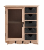 Amazing Styled Sturdy Wood Metal Shelf Cabinet by Woodland Import