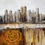 Amazing Styled Urban Skyline Fabulous Painting by Yosemite Home Decor
